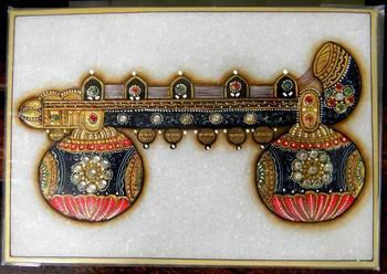 Marble Meenakari Kundan Painting- Veena
