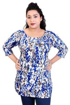 7363c7c1a7e Blue printed stretchable lycra free size tops - APPEX GARMENT ...