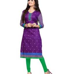 Multicolor printed cotton unstitched kurti
