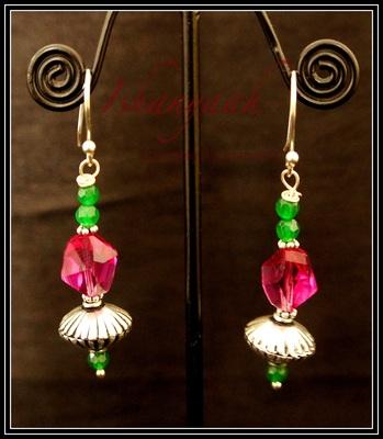 Rani Pink Drop Earrings