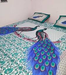 Buy Cotton rajasthani printed exclusive double bedsheet bed-sheet online
