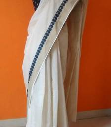 Buy cream khaadi saree cotton-saree online
