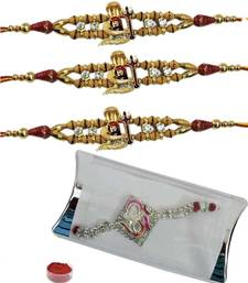Buy Breathtaking of four auspicious and bracelet rakhis bracelet-rakhi online