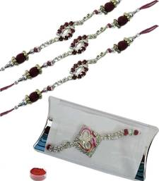 Buy Elegant of four pcs ad and bracelet rakhis bracelet-rakhi online