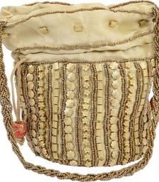 1e88990e05 Golden Silk woven potli bags