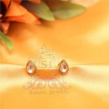 Pear Shaped Kundan Studs