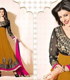 Buy SUSHMITA MAGICAL YELLOW COLORED ANARKALI SUITS anarkali-salwar-kameez online