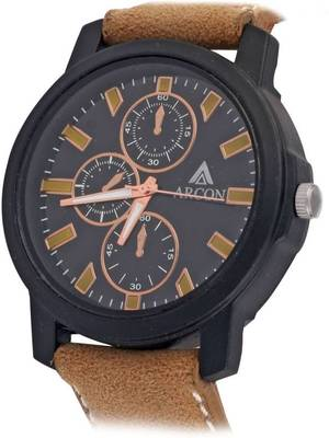 Chronograph Analog Black Dial Round Shape Men's Watch