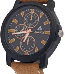 Buy Chronograph Analog Black Dial Round Shape Men's Watch watch online