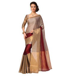 Buy Multicolor printed cotton silk saree with blouse kerala-saree online