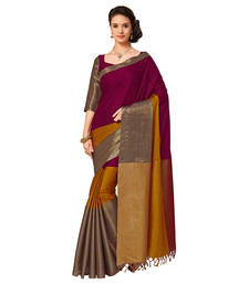 Buy Multicolor mysore  silk saree with blouse women-ethnic-wear online