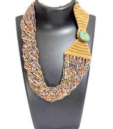Buy Multicolor beaded jewellery necklaces collar-necklace online