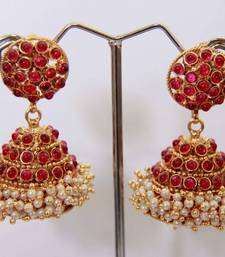 Buy Round Stud Stone Layered Jumka - Kemp danglers-drop online