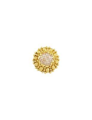 Golden Beige Polki Stones Finger Ring Jewellery for Women - Orniza
