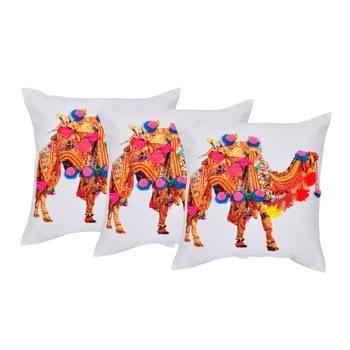 Set Of 3 Embellished Cushion Cover