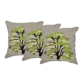 Set Of 3 Machine Embroidery Cushion Cover