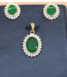 Buy Exclusive American Diamond Pendant Set Pendant online