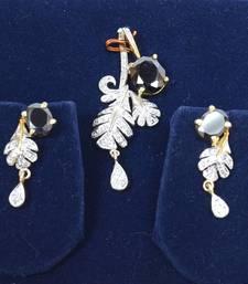 Buy Glittering American Diamond Pendant Set Pendant online