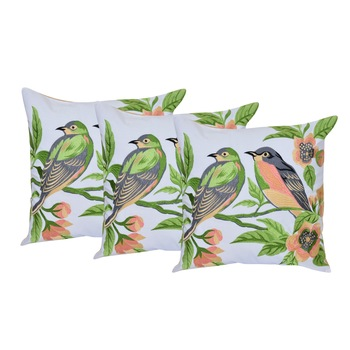 Set Of 3 Cotton Cushion Covers