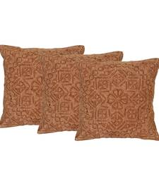 Buy Set of 3 cutwork styled Cotton Cushion Cover cushion-cover online