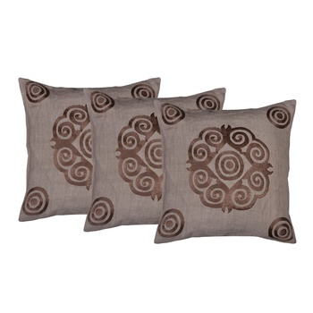 Set Of 3 Contemporary Style Cushion Cover
