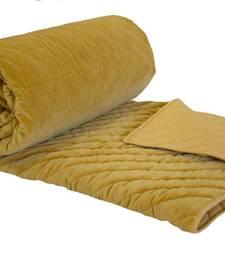 Mustard Velvet Quilt And Blankets For Winters