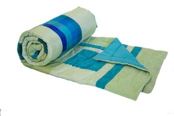 Abstract Raw Silk  Quilt Queen Size Blanket By Reme