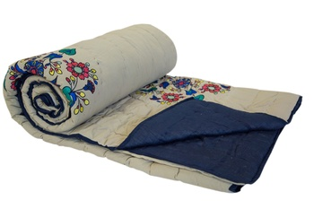 Machine Embroidered Cotton Dohar, Blankets And Comforters