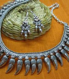 Buy OXidized neck piece necklace-set online
