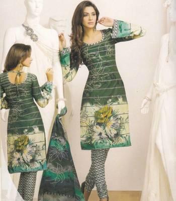 Dress Material Designer Cotton Prints Unstitched Salwar Kameez Suit D.No 8001