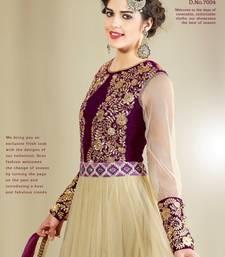 Buy Adah Fashions Biege Color Designer Salwar Kameez .509-7004 wedding-salwar-kameez online