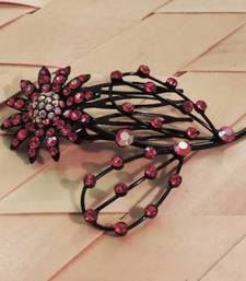 Buy Red Floral Comb Clip  hair-pin online