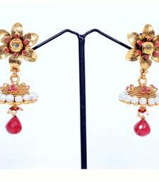 Buy Flower earring With A jhumki jhumka online