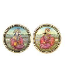 Buy Chitrahandicraft Marble Shahjhan Mumtaj Plate decorative-plate online