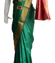 Buy Green & Red Banarasi Silk Saree 3805-2290 banarasi-silk-saree online