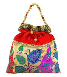 Buy Goldencollections Pooja Hand Pouch potli-bag online