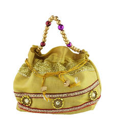 Buy Goldencollections Golden Hand Pouch potli-bag online