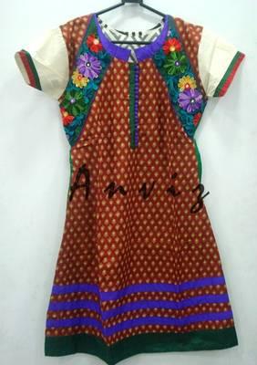 damask print muticolored kurti