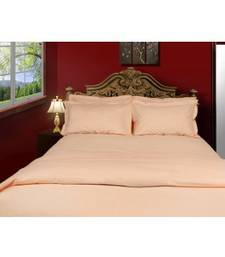 Buy Just Linen 200 TC Cotton Percale Solid Rose Flat Twin Bedsheet Set bed-sheet online