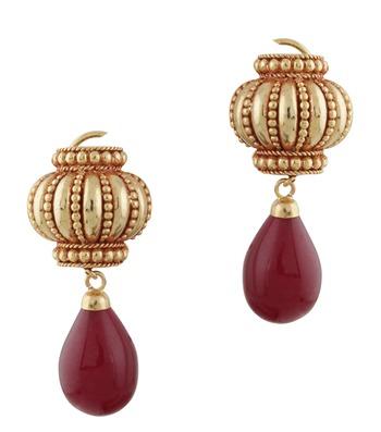 Red & Golden Legacy Earrings