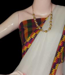 Buy white contemporary georgette-saree online