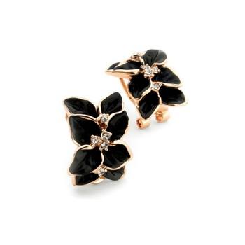 Black cubic zirconia earrings