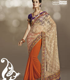 Buy Enormous Net Golden Designer Saree brasso-saree online