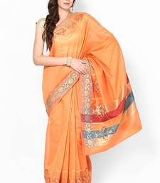 Buy Chanderi Cotton Fancy Zari Banarasi Contrast Saree chanderi-saree online