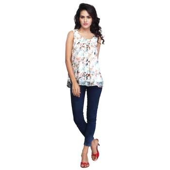 Multicolor brasso georgette short-kurtis