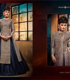 Buy Blue printed banglori silk unstitched lehenga eid-lehenga online