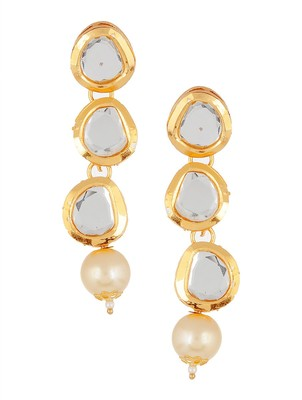 Kundan And Pearl Danglers