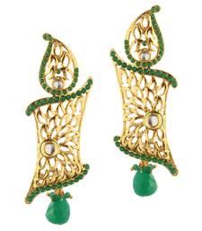 Buy Green Pota Stone danglers-drops Woman online