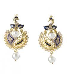 Buy Blue Austrian Stone/Pearl/Meenakari danglers-drops danglers-drop online
