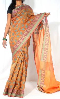 Organza silk Fancy banarasi saree